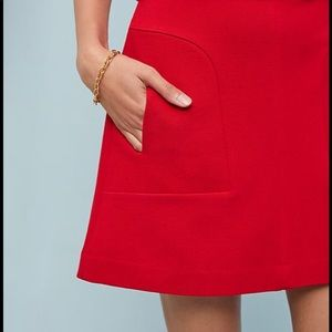 {Maeve by Anthropologie} Red Skirt